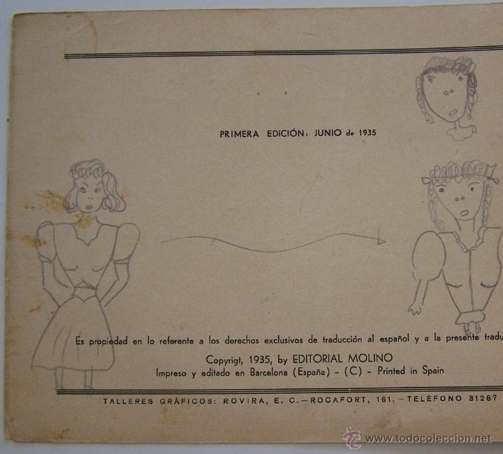 Tebeos: 1935 * PRIMER dibujo animado en que apareció el PATO DONALD * Edicion española * La Gallinita Sabia - Foto 3 - 40955068