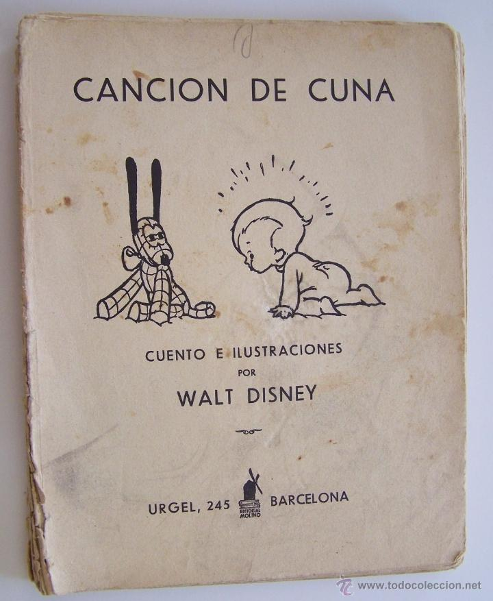 Tebeos: CANCION DE CUNA por WALT DISNEY Primera edición : julio de 1935 Editorial Molino , Barcelona - Foto 2 - 40958462