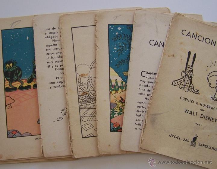 Tebeos: CANCION DE CUNA por WALT DISNEY Primera edición : julio de 1935 Editorial Molino , Barcelona - Foto 3 - 40958462