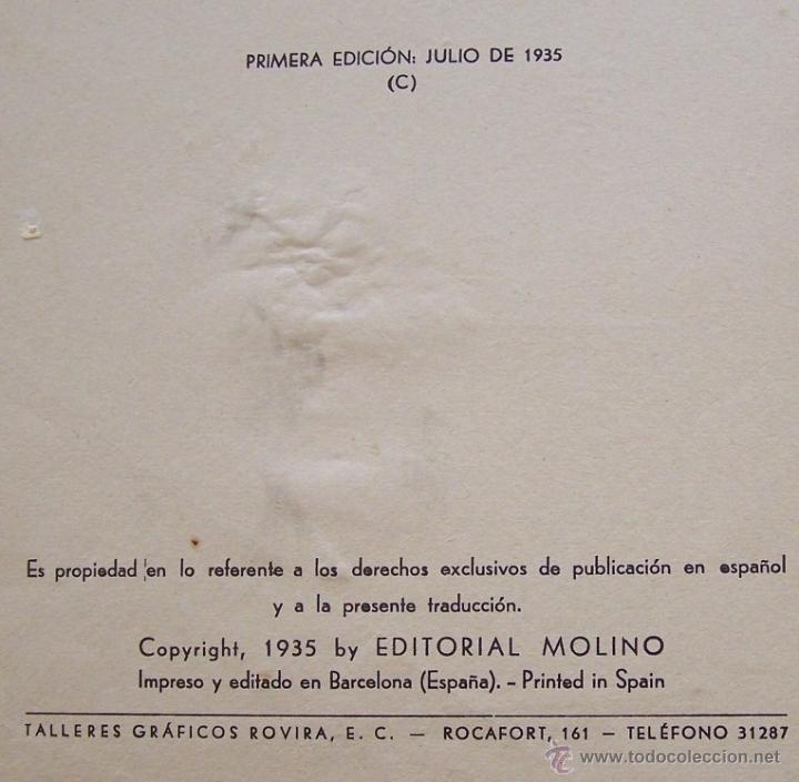Tebeos: CANCION DE CUNA por WALT DISNEY Primera edición : julio de 1935 Editorial Molino , Barcelona - Foto 4 - 40958462