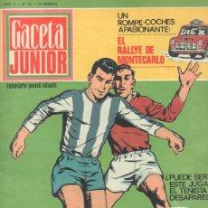Tebeos: GACETA JUNIOR Nº 16 - 1969 - HUGO PRATT , LA ISLA DEL TESORO - TUNGA, ANNA, CON RECORTABLE - TINTIN. Lote 42796716