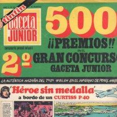 Tebeos: GACETA JUNIOR Nº 23 - 1969 - DAN COOPER, RIC BARRY, TINTIN, GOL, RECORTABLE. Lote 42796915