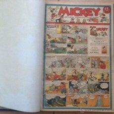 Tebeos - MICKEY, REVISTA INFANTIL, LOTE DEL 1 al 55 EN UN TOMO, ED. MOLINO 1935 - 43110936