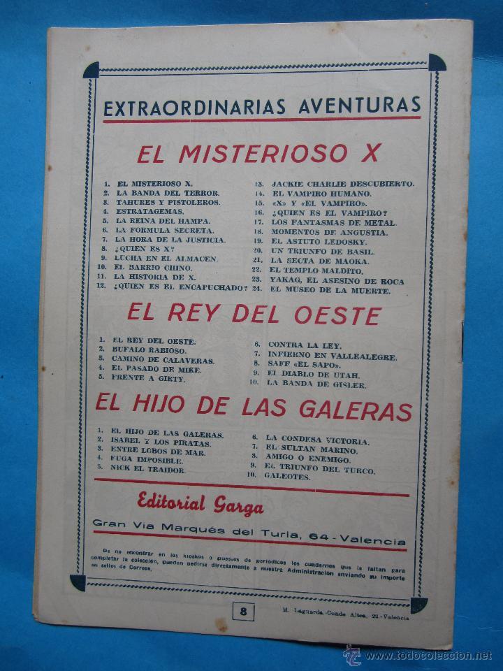 Tebeos: el hijo de las galeras - , numero 8 , amigo o enemigo -editorial garga , M gago original 1950 - Foto 4 - 43236691