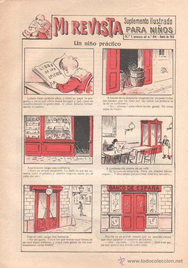 MI REVISTA SUPLEMENTO ILUSTRADO PARA NIÑOS Nº 1 ENERO 1919, IMPECABLE (Tebeos y Comics - Tebeos Otras Editoriales Clásicas)