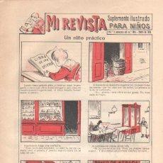 Tebeos: MI REVISTA SUPLEMENTO ILUSTRADO PARA NIÑOS Nº 1 ENERO 1919, IMPECABLE. Lote 43835570