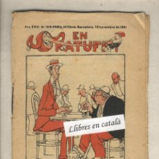 Tebeos: EN PATUFET. Nº 919. ANY 1921. CORNET. FOLCH I TORRES.. Lote 43919984