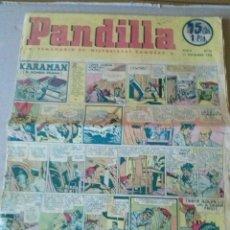 Tebeos: PANDILLA Nº 76 - SEMANARIO DE HISTORIETAS FAMOSAS- 1945. Lote 44211797