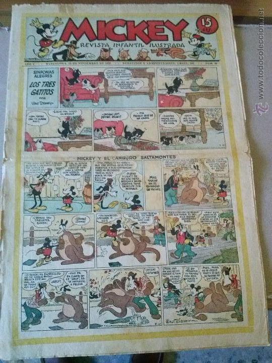 MICKEY Nº 38 - MOLINO - F. GRANDE (Tebeos y Comics - Tebeos Clásicos (Hasta 1.939))