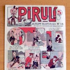 Tebeos: PIRULI Nº 16 - EDITORIAL EL GATO NEGRO 1928. Lote 45062545