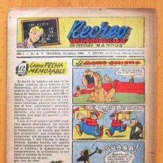 Tebeos: RECREO Nº 8 - EDICIONES MARAVILLAS 1951. Lote 45068584