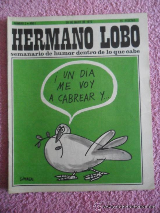 HERMANO LOBO 2 1972 PLEYADES SEMANARIO DE HUMOR DENTRO DE LO QUE CABE 15 PESETAS (Tebeos y Comics - Tebeos Otras Editoriales Clásicas)