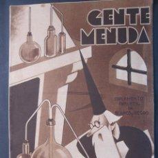 Livros de Banda Desenhada: ANTIGUO TEBEO GENTE MENUDA DE BLANCO Y NEGRO DOMINGO 25 DE SEPTIEMBRE 1932 1932. Lote 45966609