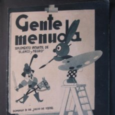 Livros de Banda Desenhada: ANTIGUO TEBEO GENTE MENUDA DE BLANCO Y NEGRO DOMINGO 31 DE JULIO 1932. Lote 45966669