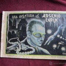 Tebeos: UNA AVENTURA DE ARSENIO LUPIN. COLECCIÓN DIAMANTE NEGRO, 17. ORIGINAL. EDICIONES RIALTO. 1944 TEBENI. Lote 46008138