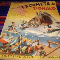 Tebeos: LA COMETA DE DONALD. EDITORIAL ABRIL EDICIÓN DE 1945. WALT DISNEY. LIBRO PASATIEMPOS SIN USO. RARO.. Lote 46447601