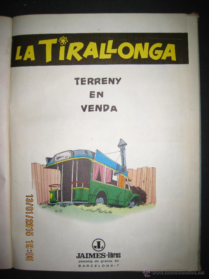 Tebeos: LA TIRALLONGA - TERRENY EN VENDA - EDITORIAL JAIMES LIBROS - COLECCION EPITOM - NUM· 6-(V-13.706) - Foto 2 - 47174654
