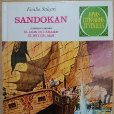 Tebeos: EMILIO SALGARI - SANDOKAN - EL LEÓN DE DAMASCO - EL REY DEL MAR - JOYAS LITERARIAS JUVENILES.. Lote 47241943