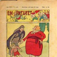 Tebeos: EN PATUFET - ANY XXXI Nº 1561 - BARCELONA 3 DE MARÇ DE 1934. Lote 47583151