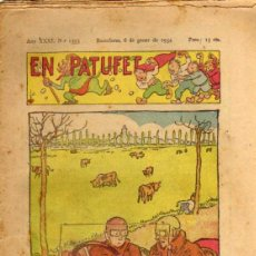 Tebeos: EN PATUFET - ANY XXXI Nº 1553 - BARCELONA 6 DE GENER DE 1934. Lote 47583179