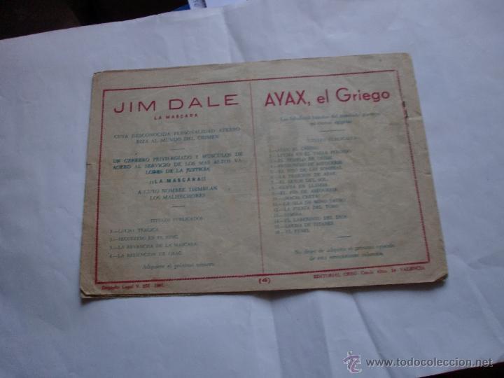 Tebeos: JIM DALE LA MASCARA nº 4 ORIGINAL - Foto 2 - 47621115