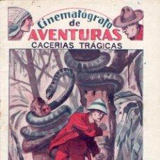 Tebeos: CACERIAS TRAGICAS -CINEMATAOGRAFO DE AVENTURAS-EDITORIAL - EL GATO NEGRO AÑOS 20. Lote 48103772