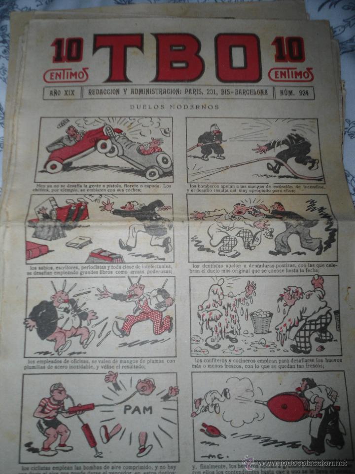 ANTIGUO TBO PRIMERA EPOCA - NUMERO 924 - DUELOS MODERNOS (Tebeos y Comics - Tebeos Clásicos (Hasta 1.939))