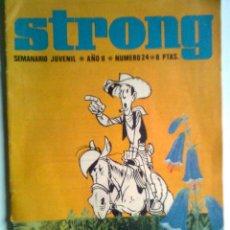 Livros de Banda Desenhada: STRONG-Nº 24-1970-BENITO SANSÓN-GASTÓN-BIOGRAFÍA DE ANDRÉ FRANQUIN-LUCKY LUKE-RARO- 3431. Lote 220481811