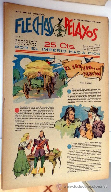 FLECHAS Y PELAYOS 20 AGOSTO 1939 NÚMERO 37 (Tebeos y Comics - Tebeos Clásicos (Hasta 1.939))