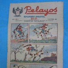 Tebeos: SEMANARIO INFANTIL PELAYOS , NUMERO 41 , 3 DE OCTUBRE 1937. Lote 49111296