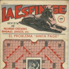 Tebeos: LA ESFINGE -REVISTA DE PASA TIEMPOS Nº3 AÑO 1936-EDIT.HISPANO AMERICANA. Lote 49200433