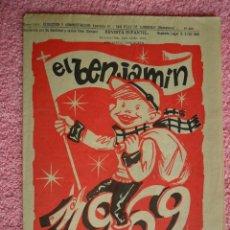 Tebeos: EL BENJAMÍN 300 REVISTA INFANTIL ENERO 1969 AÑO NUEVO VIDA NUEVA. Lote 49596262