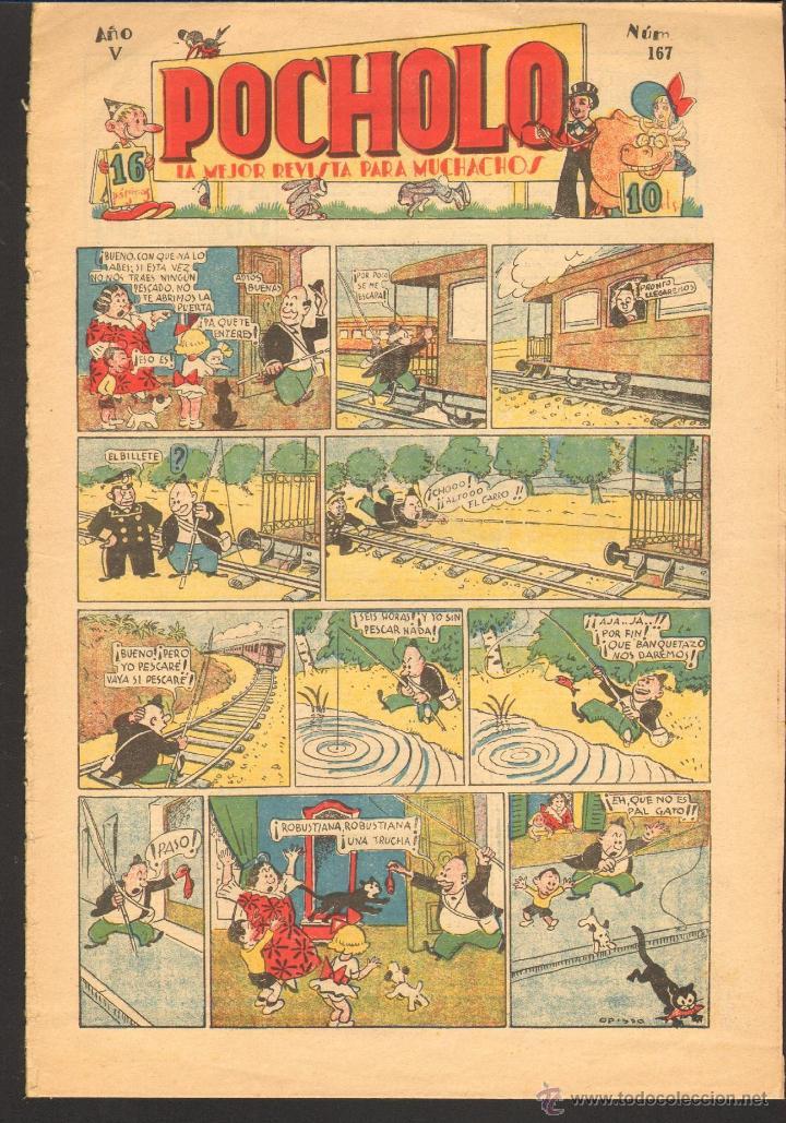 TEBEOS-COMICS CANDY - POCHOLO - Nº 167 - SALVADOR VIVES 1930 - DIFICIL* *CC99 (Tebeos y Comics - Tebeos Clásicos (Hasta 1.939))