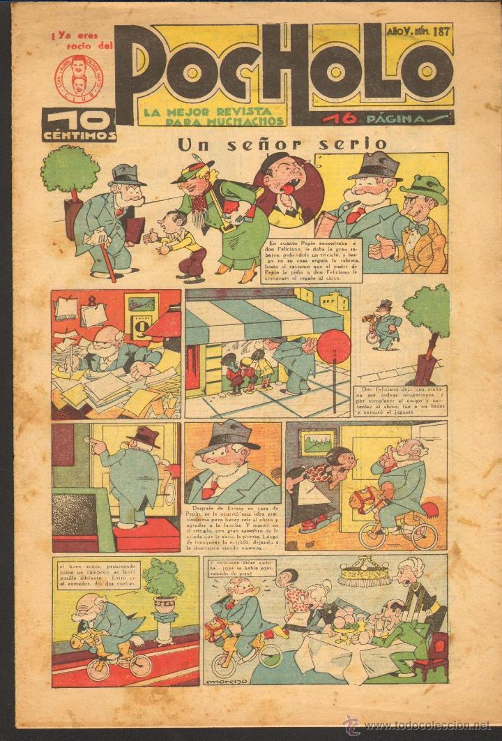 TEBEOS-COMICS CANDY - POCHOLO - Nº 187 - SALVADOR VIVES 1930 - DIFICIL* *CC99+ (Tebeos y Comics - Tebeos Clásicos (Hasta 1.939))