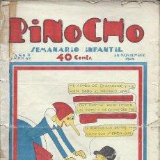 Tebeos: PINOCHO SEMANARIO INFANTIL AÑO II Nº 93 28 NOVIEMBRE 1926, ED. SATURNINO CALLEJA. Lote 50130943