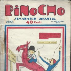 Tebeos: PINOCHO SEMANARIO INFANTIL AÑO II Nº 92 21 NOVIEMBRE 1926, ED. SATURNINO CALLEJA. Lote 50130948