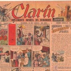 Tebeos: CLARIN ORIGINAL Nº 43 - 1951 - GRAN FORMATO 42 X 29 CMS.EDUARDO VALDES, MORO,. Lote 50357794