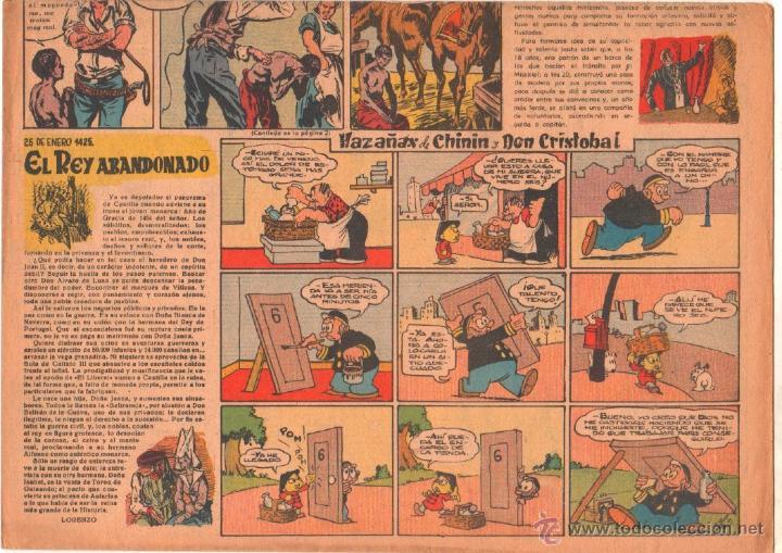 Tebeos: CLARIN ORIGINAL Nº 43 - 1951 - GRAN FORMATO 42 X 29 CMS.EDUARDO VALDES, MORO, - Foto 2 - 50357794