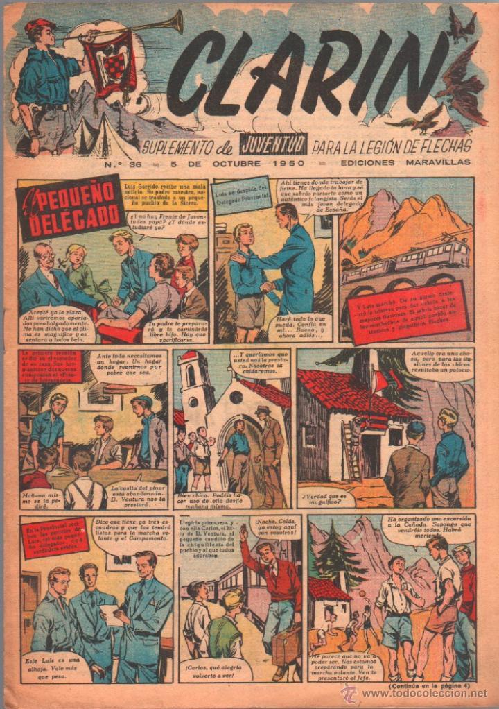 CLARIN ORIGINAL Nº 36 - 1950 - (Tebeos y Comics - Tebeos Otras Editoriales Clásicas)