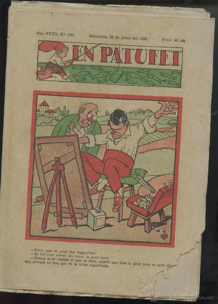 REVISTA PATUFET 22-07-1938 NÚM. 1787 (MALLOL, JUNCEDA, CORNET, LLAVERIES) GUERRA CIVIL (Tebeos y Comics - Tebeos Clásicos (Hasta 1.939))