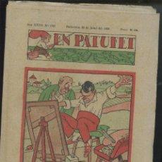 Tebeos: REVISTA PATUFET 22-07-1938 NÚM. 1787 (MALLOL, JUNCEDA, CORNET, LLAVERIES) GUERRA CIVIL . Lote 50390913