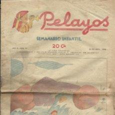 Tebeos: PELAYOS. SEMINARIO INFANTIL. Nº 70. ENERO 1938.. Lote 50578282
