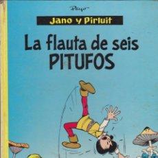 Tebeos: COMIC COLECCION JANO Y PIRLUIT LA FLAUTA DE SEIS PITUFOS EDCIONES ARGOS . Lote 51560671