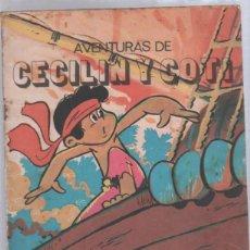 Tebeos: TEBEO AVENTURAS DE CECILIN Y COTI. EDITORIAL ORIENTE. CUBA. 1982.. Lote 57919295