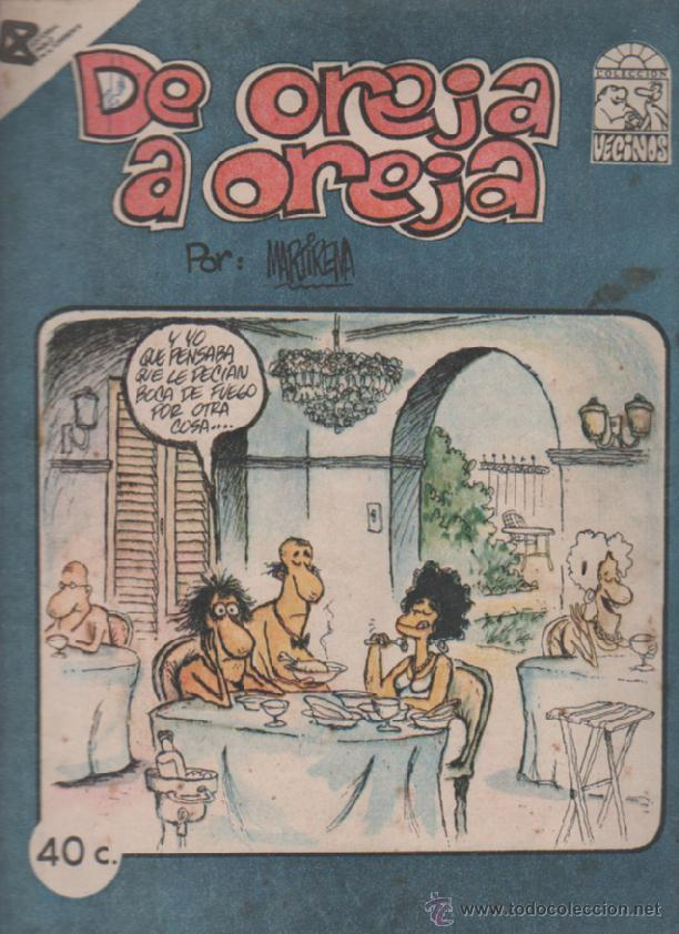 TEBEO DE OREJA A OREJA. COLECCION VECINOS. EDITORIAL PABLO DE LA TORRIENTE. CUBA 1988 (Tebeos y Comics - Tebeos Otras Editoriales Clásicas)