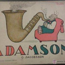 Tebeos: OSCAR JACOBSSON, CARICATURISTA SUECO TIRAS CÓMICAS DE ADAMSON 48 PÁGINAS.. Lote 51919581