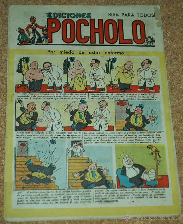 POCHOLO EDICIONES Nº 37 - 1945 - ORIGINAL EN BUEN ESTADO- LEER Y VER FOTO (Tebeos y Comics - Tebeos Otras Editoriales Clásicas)
