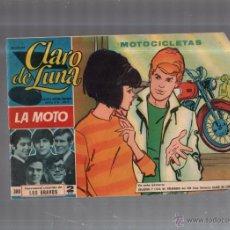 Tebeos: COLECCION CLARO DE LUNA. Nº 380. MOTOCICLETAS. Lote 52834041