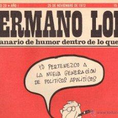 Tebeos: HERMANO LOBO,SEMANARIO DE HUMOR,29. Lote 53015828