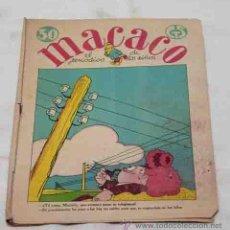Tebeos: MACACO. Nº 71. 9 JUNIO 1929. CON RECORTABLE EJERCITO ESPAÑOL INFANTERIA, AMETRALLADORAS. RIBADENEYRA. Lote 53340270